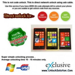 Lumia 1020 INSTANT DIRECT UNLOCK USING USB CABLE.