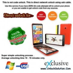 Lumia 1320 INSTANT DIRECT UNLOCK USING USB CABLE
