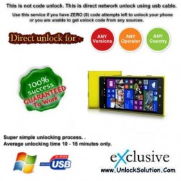 Lumia 1520 INSTANT DIRECT UNLOCK USING USB CABLE.