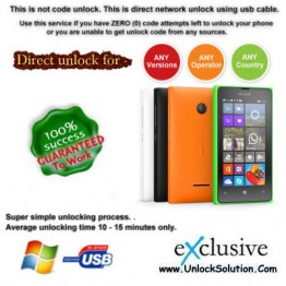 Lumia 435 INSTANT DIRECT UNLOCK USING USB CABLE.