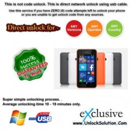 Lumia 530 INSTANT DIRECT UNLOCK USING USB CABLE.