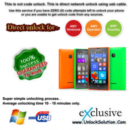 Lumia 532 INSTANT DIRECT UNLOCK USING USB CABLE.
