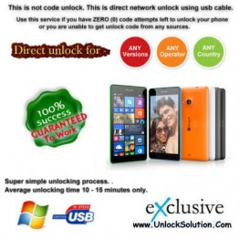 Lumia 535 INSTANT DIRECT UNLOCK USING USB CABLE.