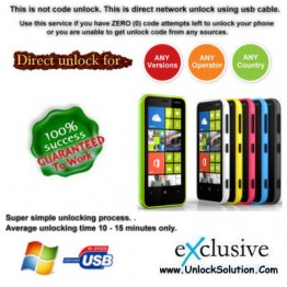 Lumia 620 INSTANT DIRECT UNLOCK USING USB CABLE.