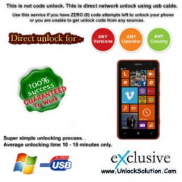 Lumia 625 INSTANT DIRECT UNLOCK USING USB CABLE.